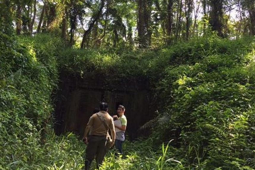 The bunker is built into a hill. --ST PHOTO: MELODY ZACCHEUS