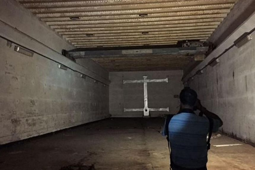 The interior of the bunker. --ST PHOTO: MELODY ZACCHEUS