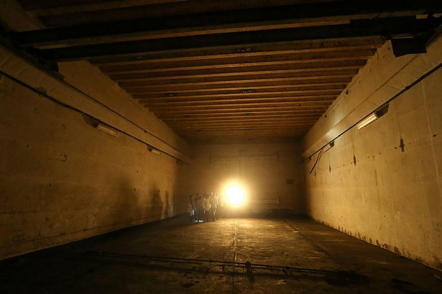 About the size of two five-room flats, the well-preserved structure will open to the public for the first time in more than seven decades next month. -- ST PHOTO: SEAH KWANG PENG