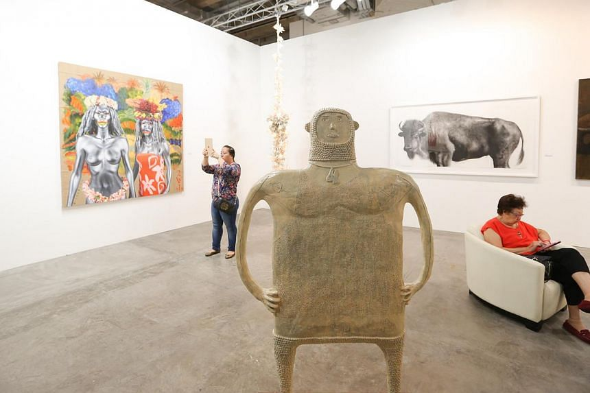 Art Stage Singapore drew a record 51,000 visitors and featured 152 galleries this year. -- PHOTO: ONG WEE JIN