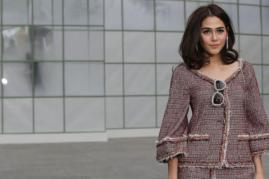 British-Thai actress Araya A.Hargate poses prior to attend Chanel 2015 Haute Couture Spring-Summer collection fashion show on Jan 27, 2015 at the Grand Palais in Paris. -- PHOTO: AFP