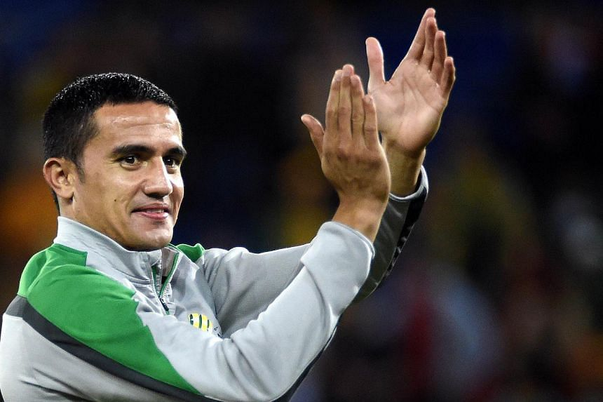 Tim Cahill will be leading the Australia front line as the Socceroos take on South Korea to decide the 2015 Asian champions. -- PHOTO: AFP