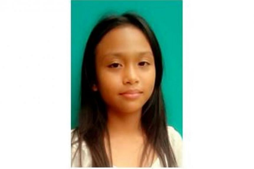 The police are appealing for information on the whereabouts of an 11 year-old Nur Wafa Aliya Sufizan,who went missing on Sunday. -- PHOTO: SINGAPORE POLICE FORCE