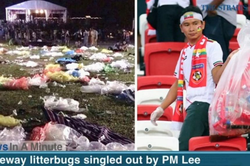 In today's News In A Minute, we look at litterbugs at last Saturday's Laneway music festival being singled out by Prime Minister Lee Hsien Loong on his Facebook page. -- SCREENGRAB FROM RAZORTV