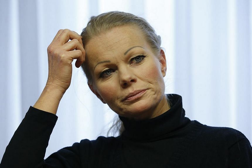 German anti-Islam movement Pegida lost its second leader in a week on Wednesday when Kathrin Oertel (above), who took over after the founder quit for posing as Hitler, also stepped down, citing media pressure. -- PHOTO: REUTERS