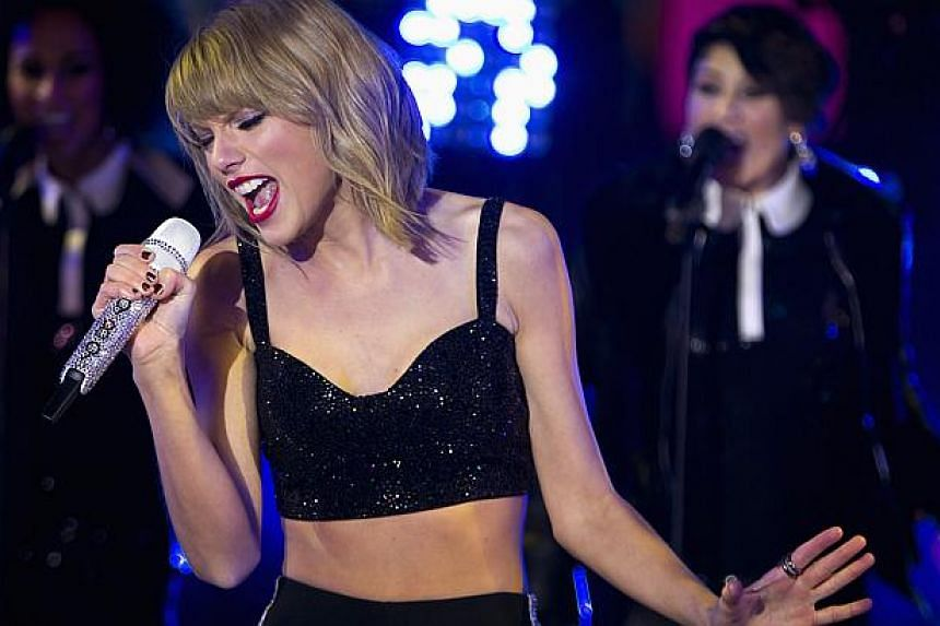 Pop star Taylor Swift (above) said her Twitter and Instagram accounts were hacked on Tuesday, but the rogue posts were quickly removed from the social media services. -- PHOTO: REUTERS