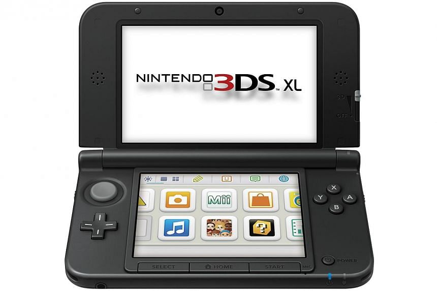 A Nintendo 3DS XL. The Japanese videogame giant said Wednesday its April-December net profit soared six-fold to US$504 million. -- PHOTO: NINTENDO