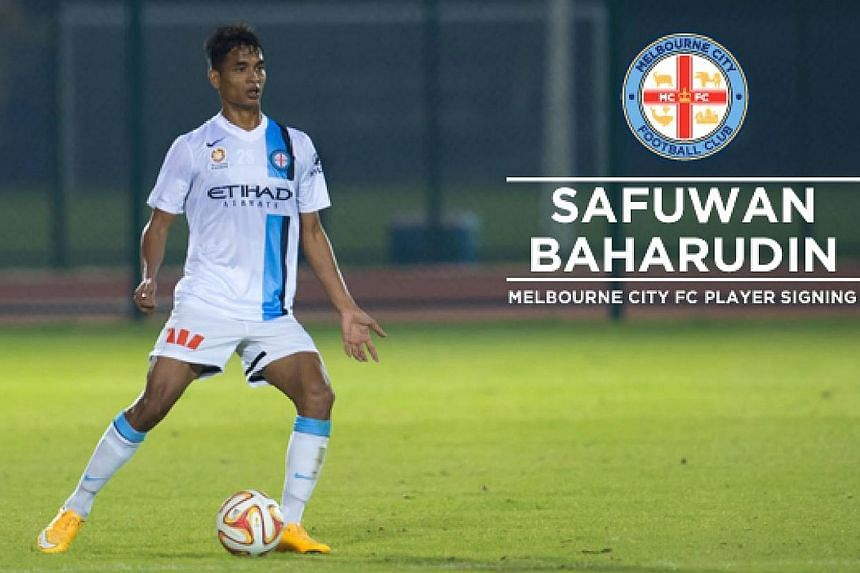 Singapore defender Safuwan Baharudin in action for new club, A-League side Melbourne City FC. -- PHOTO:COURTESY OF MELBOURNE CITY FC