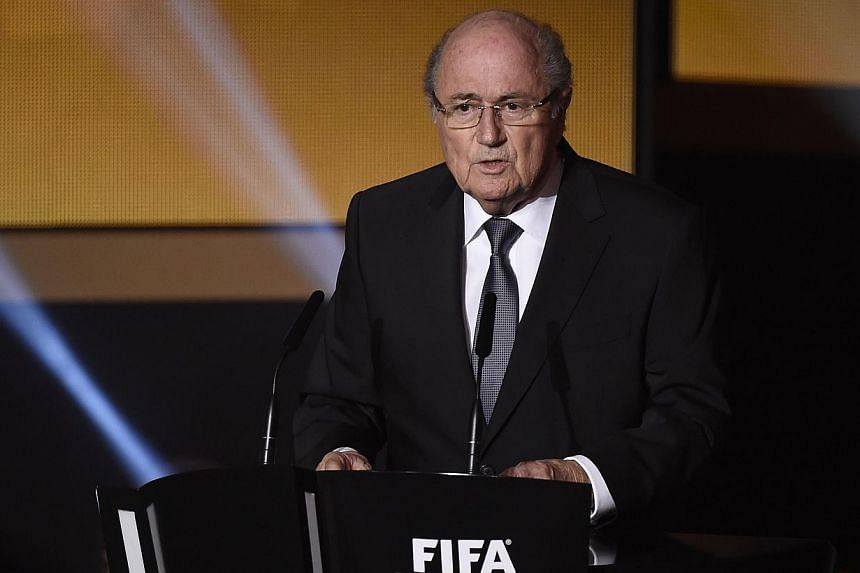 Fifa president Sepp Blatter confirmed that he had submitted his bid to run for re-election on Thursday, Jan 29, 2015, the deadline day for nominations to be handed in. -- PHOTO: AFP
