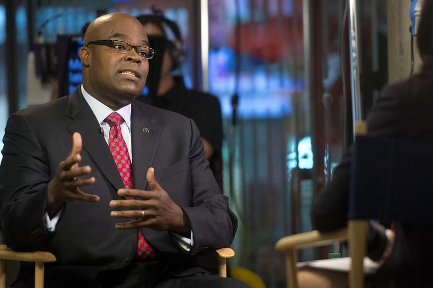 Chief executive officer Don Thompson will leave McDonald's at the end of February and be succeeded by chief brand officer Steve Easterbrook. -- PHOTO: REUTERS
