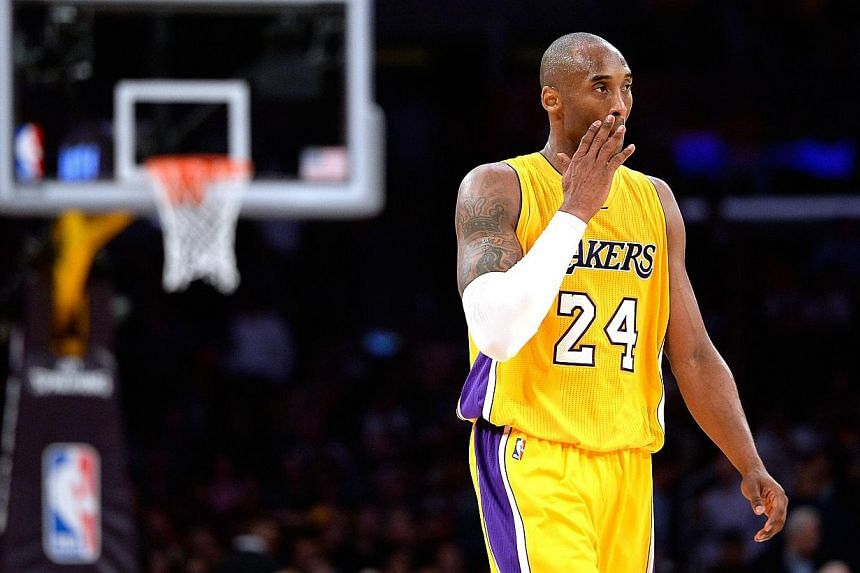Los Angeles Lakers star Kobe Bryant will miss the rest of the NBA season after a successful shoulder surgery on Wednesday, Jan 28, 2015, the third-straight year he has undergone a season-ending procedure. -- PHOTO: AFP