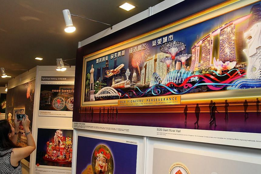 Artist impressions of next month's River Hongbao being displayed at a press conference for the event held on Jan 29, 2015. -- PHOTO: LIANHE ZAOBAO