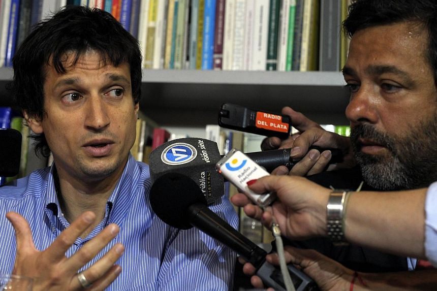 Argentine Diego Lagomarsino speaking during a press conference in Buenos Aires, on Jan 28, 2015. -- PHOTO: AFP
