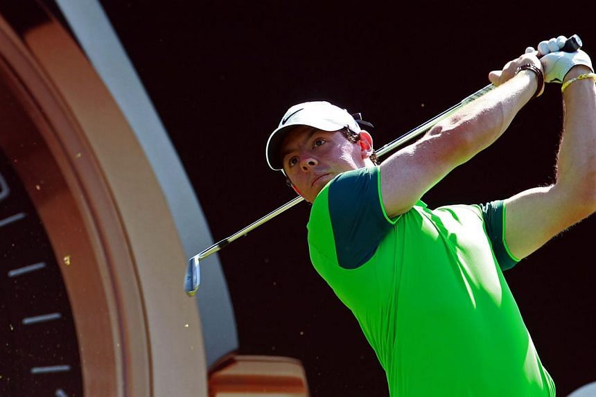 Rory McIlroy of Northern Ireland tees off during the first round of the Omega Dubai Desert Classic 2015 Golf tournament at Emirates Golf Club in Dubai, United Arab Emirates, on Jan 29, 2015. -- PHOTO: EPA
