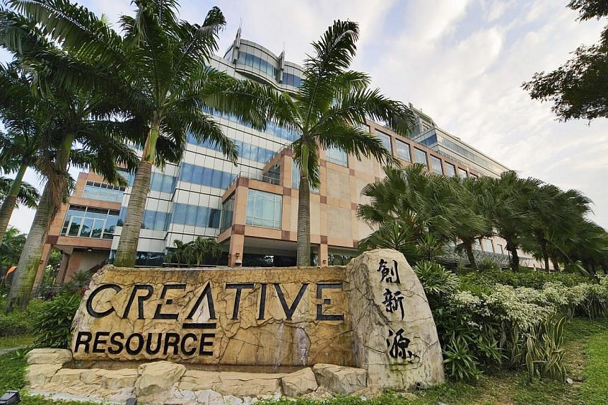Homegrown sound card maker Creative Technology reported a net loss of US$9.2 million (S$12.4 million)for the second quarter to Dec 31 and a 17 per cent fall in sales to US$31.3 million. -- PHOTO: BLOOMBERG