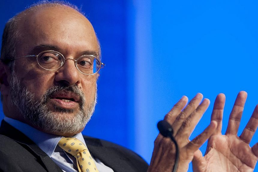 DBS chief executive Piyush Gupta is said to be on Standard Chartered's list of potential candidates for a successor to CEO Peter Sands. -- PHOTO: BLOOMBERG
