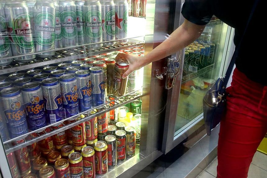 In Tekka market in Little India, beer can be sold only in tin cans - not bottles - during certain hours. --PHOTO: THE NEW PAPER FILE