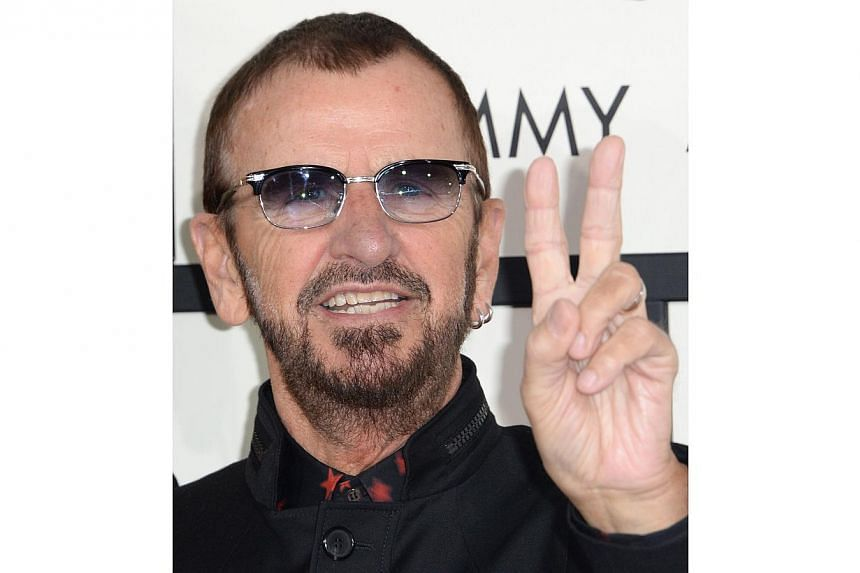 Former Beatle Ringo Starr will release his 18th studio album, Postcards From Paradise, on March 31, and tour the US States and Latin America before its release. -- PHOTO: AFP