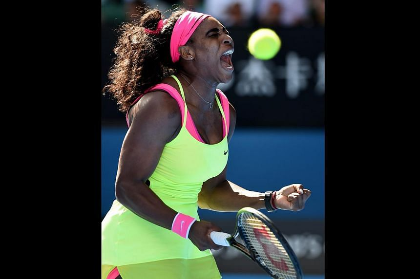 Above, American world No. 1 Serena Williams says it is not a life changer for her if she does not win, but her resolve on court tells a different story. Left, Russian world No. 2 Maria Sharapova is normally up for a scrap but has not found a way to p