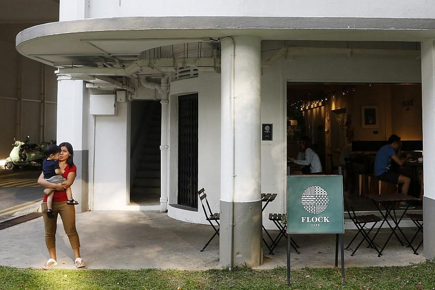 """Trendy cafes have popped up in older estates, such as Tiong Bahru. Gentrification need not be a zero-sum game that pits """"winners"""" (gentrified newcomers) against """"losers"""" (older residents and business owners). With proactive planning and careful manag"""