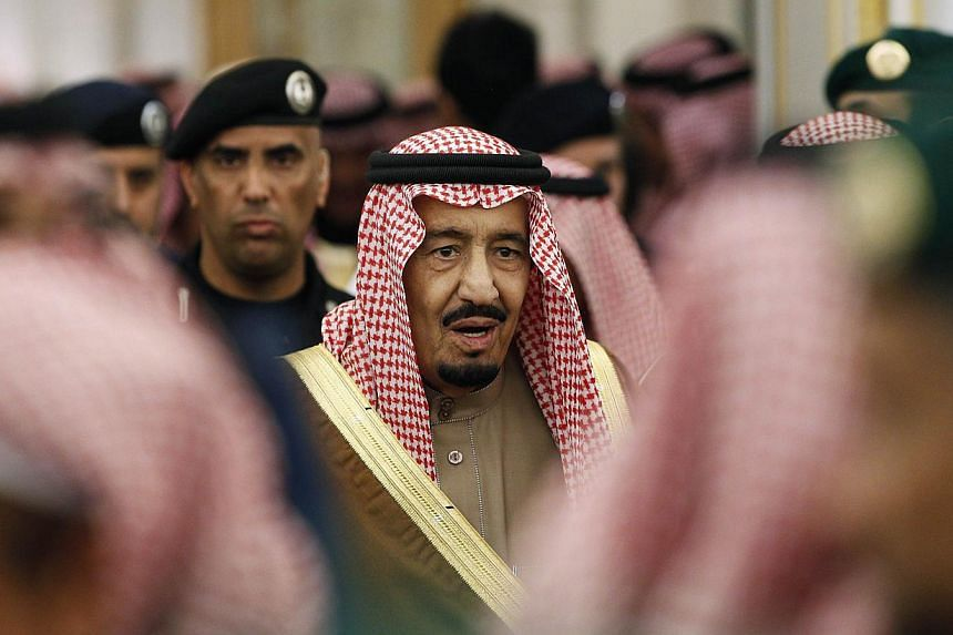 New Saudi King Salman attends a ceremony with world leaders offering their condolences following the death of the late Saudi King, Abdullah bin Abdulaziz, at the Diwan royal palace in Riyadh Jan 24, 2015. Saudi Arabia's new King Salman has tight
