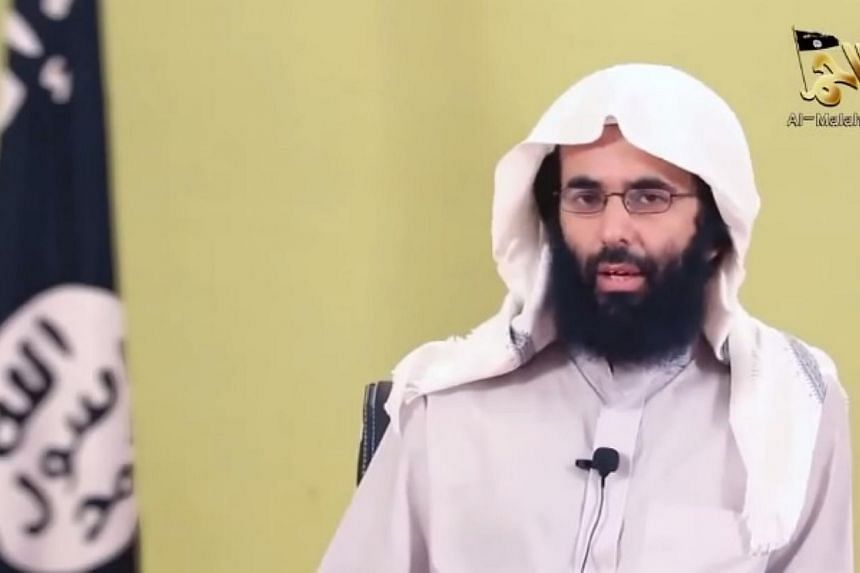 Ibrahim al-Rubaish in a screenshot from a video on YouTube.The ideological leader of Yemen-based Al-Qaeda in the Arabian Peninsula (AQAP) said Friday that France had surpassed the United States as the top enemy of Islam. -- PHOTO: YOUTUBE