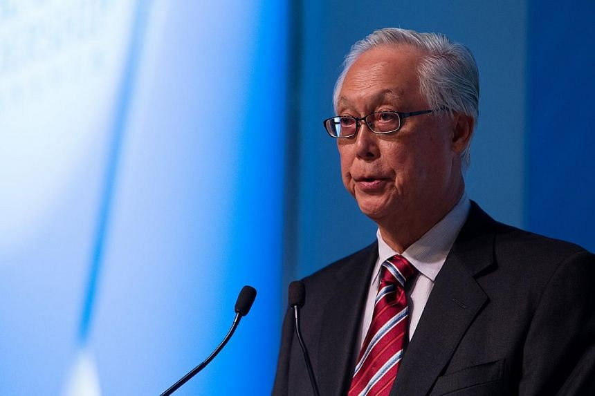 Emeritus Senior Minister Goh Chok Tong speaking at the Asian Leadership Conference (ALC) in Seoul, South Korea, on March 3, 2014. He will call on Myanmar President Thein Sein during a visit to the country's capital, Naypyitaw, this week. -- PHOT