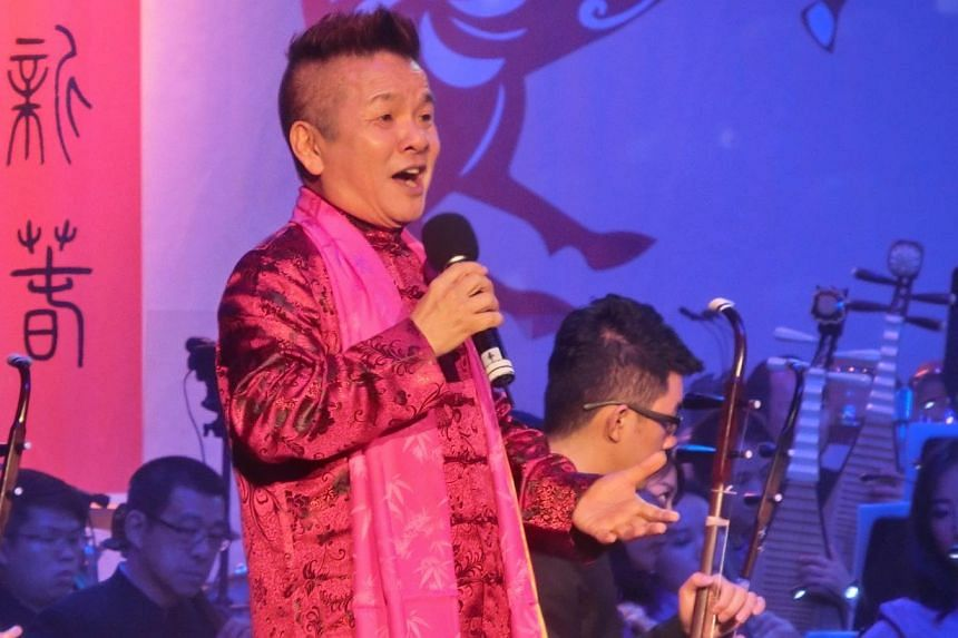 Popular radio and television personality Marcus Chin (Chen Jian Bin) serving as host.-- ST PHOTO: CHANG TOU LIANG