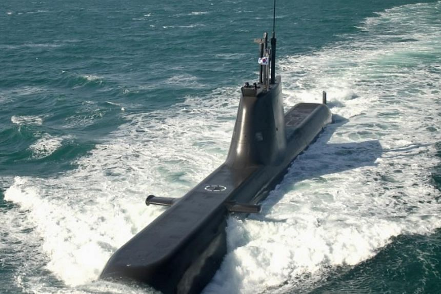 South Korea launched its submarine force command on Sunday, Feb 1, 2015, to better cope with evolving maritime security challenges including those from North Korea, and potentially from outside the peninsula.-- PHOTO: KOREA HERALD/ASIA NEWS NETWORK&n