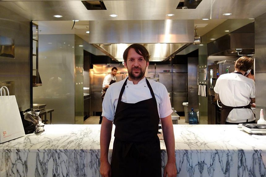 Chef Rene Redzepi (above) says it is more fun to cook in Tokyo than in Europe as the food culture in Japan is rich with diverse ingredients.-- ST PHOTO: TAN HSUEH YUN