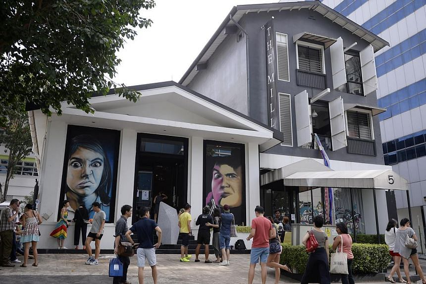 The exterior of The Mill during The Mill x WeJungle: Destruction & Rebirth at Jalan Kilang on Jan 21, 2015. -- ST PHOTO: MARK CHEONG