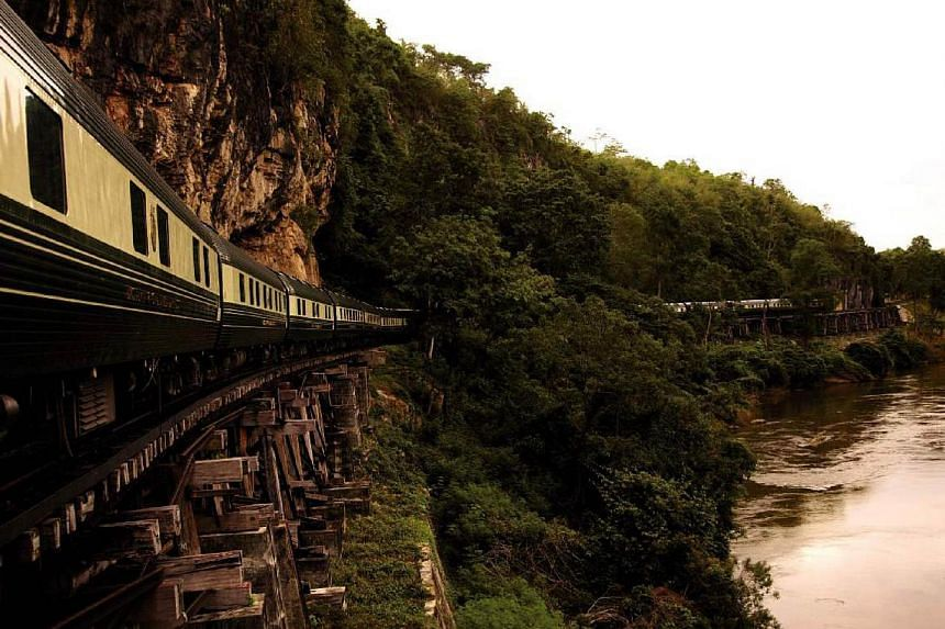 A fire broke out on the Eastern & Oriental Express (pictured) in Thailand on Sunday, Feb 1, 2015, as it headed towards a region known for inspiring the film The Bridge On The River Kwai, but no one was injured, police said. -- PHOTO:BLOOMBE