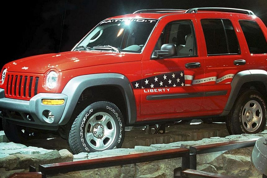 US transport authorities have recalled more than two million Toyota, Chrysler and Honda vehicles, including models of the Jeep Liberty (above) made in the early 2000s, over faulty airbags that may inadvertently inflate while the car is running. This