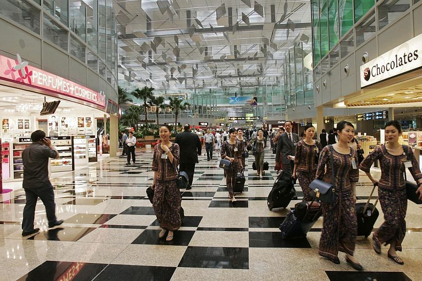 Changi Airport continued to post a steady performance in their retail business with over $2 billion registered in concession sales for 2014. -- PHOTO: ST FILE