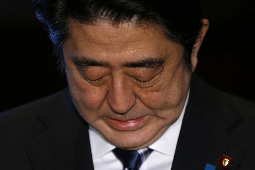 Japan's Prime Minister Shinzo Abe speaks to the media at his official residence in Tokyo on Feb 1, 2015.Japan's failure to rescue two hostages beheaded by Islamic State in Iraq and Syria (ISIS) militants has raised doubts about its ability to h