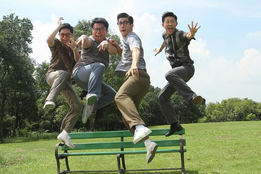 Hanjin Tan marked his acting debut with a Hong Kong Film Award for Best New Performer for his role as Skinny (above, second from left) in the biopic Bruce Lee, My Brother (2010). -- PHOTOS: ESPLANADE, COURTESY OF HANJIN TAN