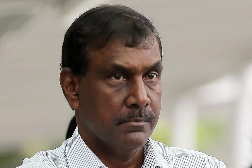 Jeganathan Ramasamy, 63, could be jailed for up to 20 years and fined on each charge of criminal breach of trust as a public servant if he is convicted.-- ST PHOTO:WONG KWAI CHOW