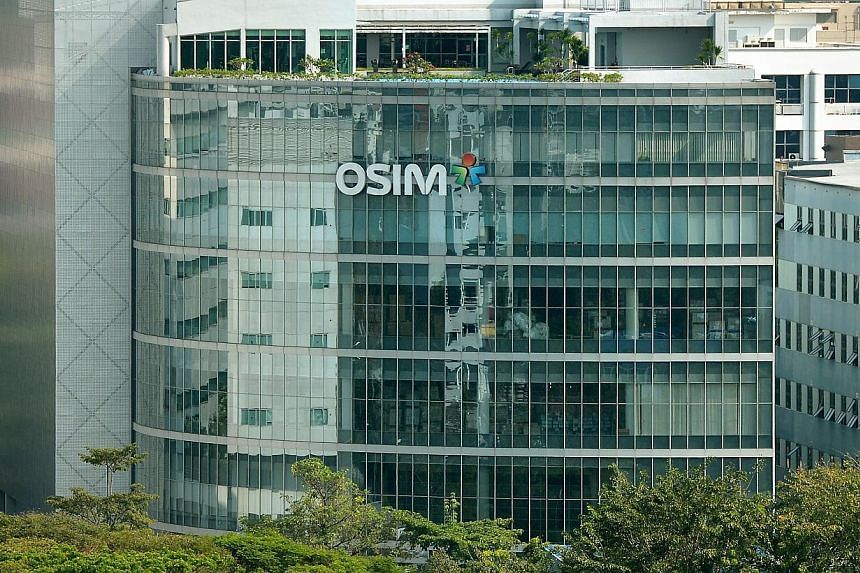 The Osim International building along Ubi Avenue 1. The company's Q4 earnings will be reported on Tuesday, Feb 3, 2015. -- ST PHOTO: KUA CHEE SIONG