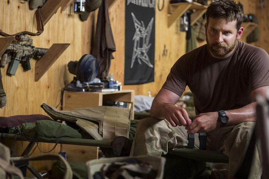 Bradley Cooper in a scene from American Sniper. -- PHOTO: GOLDEN VILLAGE