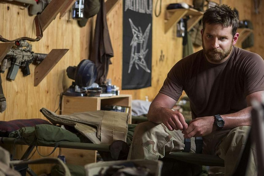 Still images from the film American Sniper starring Bradley Cooper. The actor, who earned a best actor Oscar nomination for his performance as a deadly marksman in the movie directed by Clint Eastwood, said on Monday, Feb 2, 2015, that he did not for