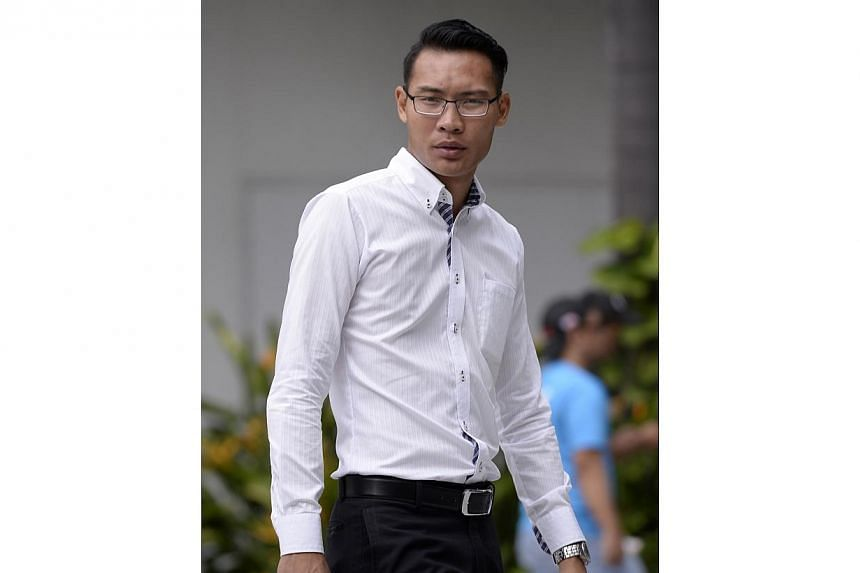 Joachim Gabriel Lai Zhen had admitted to punching Mr Tan Keon Chae, 55 in the face in November last year. -- ST PHOTO: MARK CHEONG