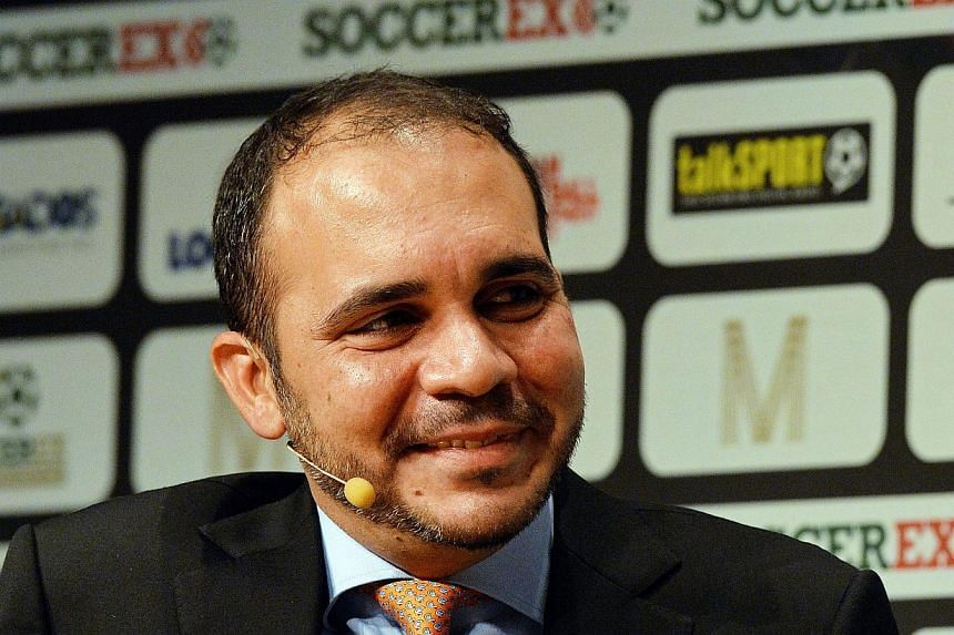 """Prince Ali bin Al-Hussein of Jordan launched his bid for the Fifa presidency on Tuesday and said it was time for the """"culture of intimidation"""" in world football's governing body to end. -- PHOTO: AFP"""