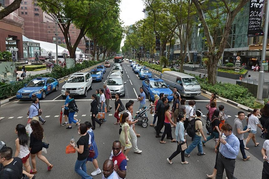 Part of Orchard Road will be closed to motorists from 6pm to 11pm this Saturday. -- ST PHOTO: CAROLINE CHIA