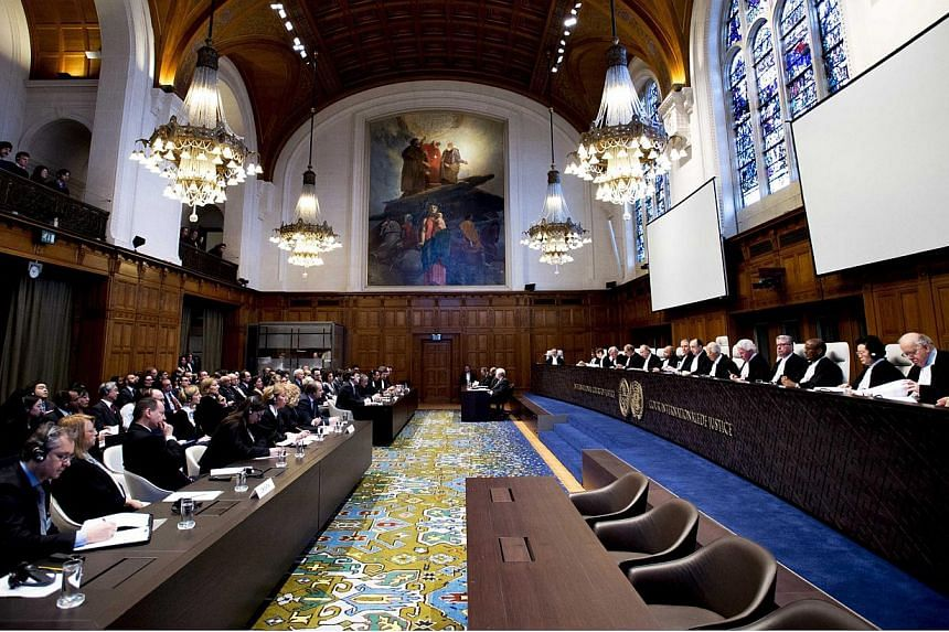 The court during the verdict on genocide claims brought up by Croatia against Serbia, at the UN International Court of Justice (ICJ) in The Hague, The Netherlands, on Feb 3, 2015.The UN's highest court rejected rival claims of genocide by Croat
