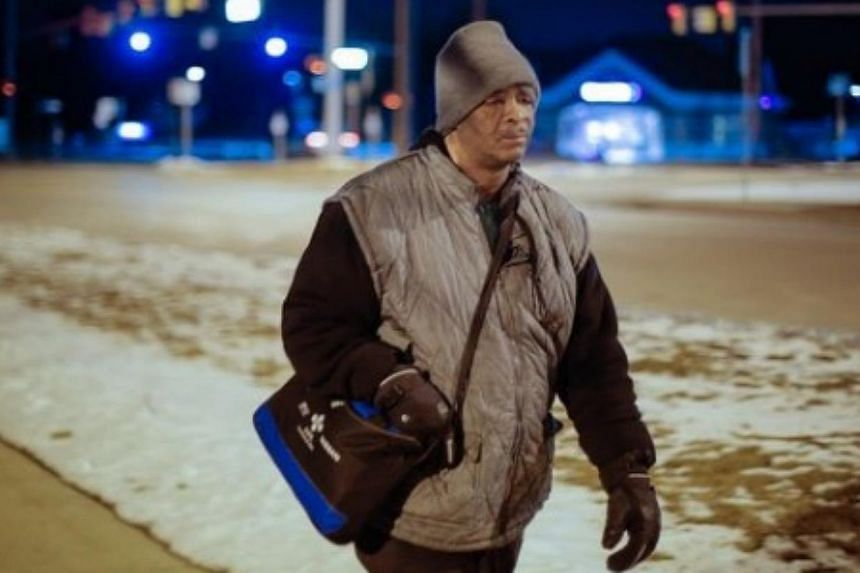 More than US$100,000 (S$135,000) have been raised for James Robertson from Detroit, a man who walks 21 miles (33.8km) every day to and from work. -- PHOTO: GOFUNDME