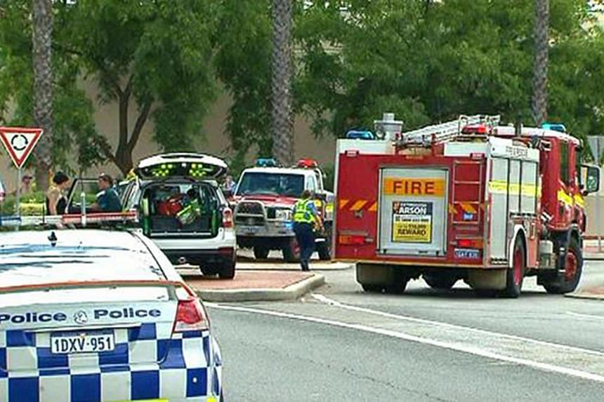 The explosion occurred at 9.30am local time at Morley Galleria shopping centre in north-eastern Perth. -- PHOTO: 9NEWS
