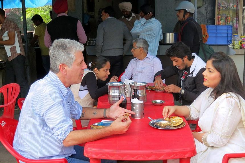 """While filming in Punjab, Anthony Bourdain enjoyed roadside and vegan food, and said he ate """"spectacularly well"""". -- PHOTO: TLC, DISCOVERY NETWORKS ASIA-PACIFIC"""