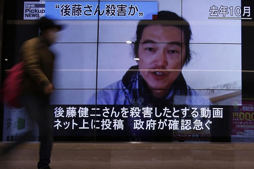 Goto's brutal execution by militants from the Islamic State in Iraq and Syria (ISIS) movement has provoked an outpouring of emotion in Japan. -- PHOTO: REUTERS