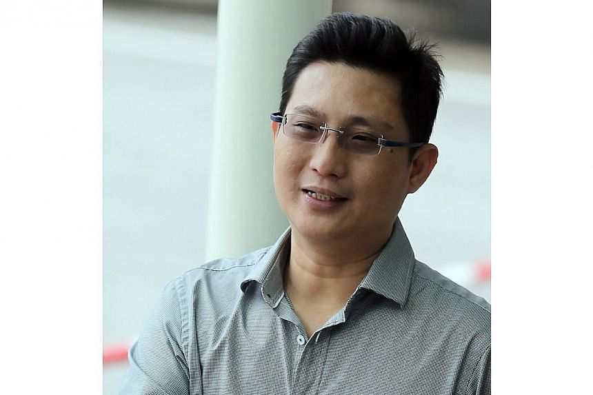 Real estate agent Lim Choon Keong (above) pleaded guilty to an amended charge of causing hurt to contractor Yong Wei Keong. -- ST PHOTO: WONG KWAI CHOW