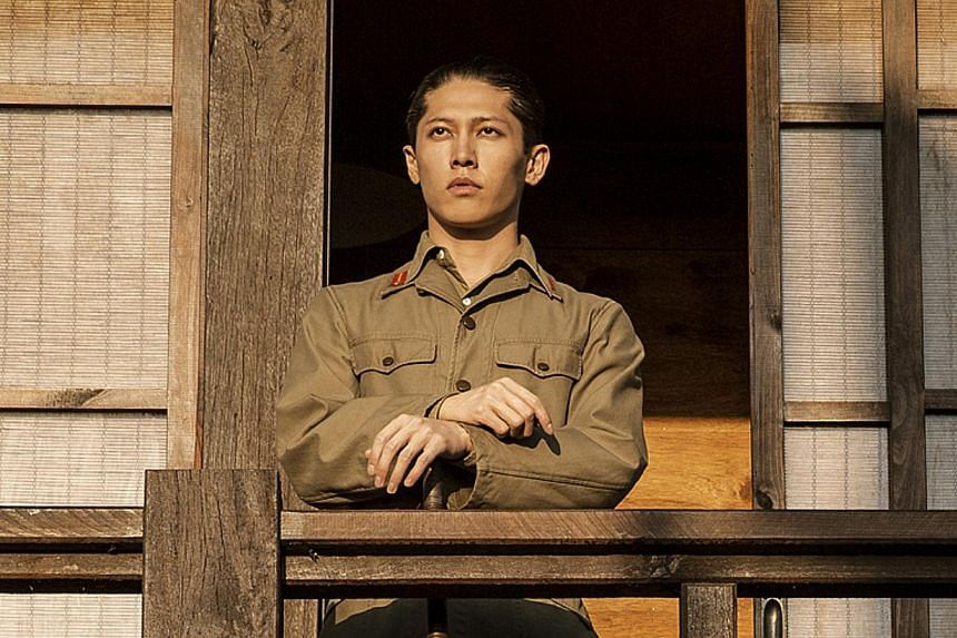 Actors Takamasa Ishihara (left) in Unbroken and with Jack O'Connell (above).
